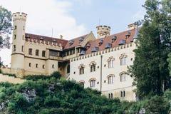 Duitsland, München - September 06, 2013 Hohenschwangaukasteel in de Beierse Alpen royalty-vrije stock afbeeldingen