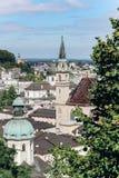 Duitsland, München - September 03, 2013 Kerk in Duitsland De mening vanaf de bovenkant stock afbeelding