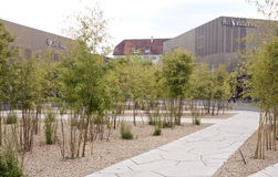 DUITSLAND - 30 mei, 2012: afzetstad Metzingen- het centrum van verkoop dichtbij München Royalty-vrije Stock Afbeelding