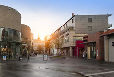 DUITSLAND - 30 mei, 2012: Ingolstadtdorp het centrum van verkoop dichtbij München Stock Afbeelding