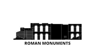 Duitsland, Trier, Roman Monuments, Kathedraal van St Peter And Church Of Our de horizonreeks van de Dame vlakke reis Duitsland, T vector illustratie