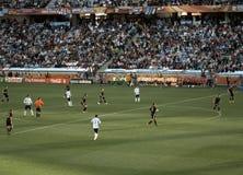 Duitsland versus Argentinië Stock Fotografie