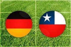 Duitsland versus de voetbalwedstrijd van Chili Royalty-vrije Stock Afbeelding