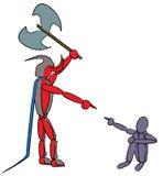 Duivel en kind Stock Afbeelding