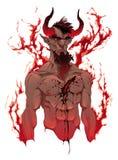 Duivel. Het portret van de demon stock illustratie