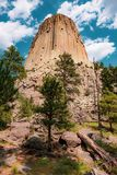 Duivels` s Toren in Wyoming stock foto