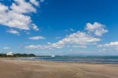 Duivels` s Washboard kustlijn en strand in Aoshima-eiland, Miyazak stock foto's