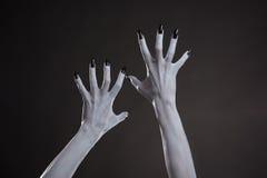 Duivelse handen met zwarte spijkers Royalty-vrije Stock Afbeelding