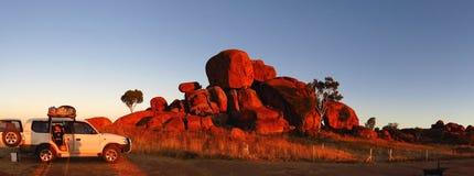 Duivelsmarmer, Noordelijk Grondgebied, Australië Stock Afbeelding