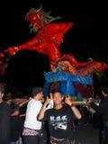 Duivelsstandbeeld in ogoh-Ogoh Ceremonie, Bali Royalty-vrije Stock Foto's