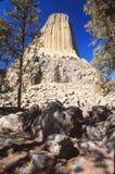 Duivelstoren van Wyoming Stock Afbeeldingen