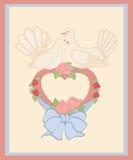 Duiven en hart stock illustratie