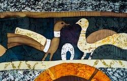 Duiven, fragment, hete batik, achtergrondtextuur royalty-vrije stock afbeeldingen