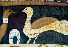 Duiven, fragment, hete batik, achtergrondtextuur royalty-vrije stock foto