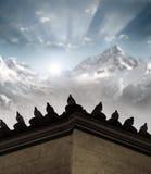 Duiven op dak Royalty-vrije Stock Foto