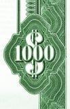 Duizend dollars Royalty-vrije Stock Afbeelding