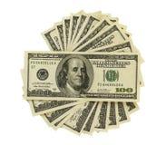 Duizend dollars bij cirkel Stock Afbeelding