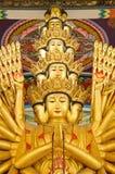 Duizend-hand het standbeeld van Guan Yin Stock Afbeeldingen