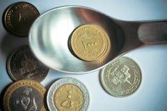Duizend Iraanse rials en andere muntstukken Royalty-vrije Stock Afbeeldingen