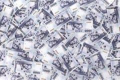 Duizend Nieuwe de Dollar van Taiwan Achtergrond Royalty-vrije Stock Afbeeldingen