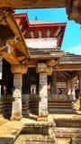 Duizend pijlerstempel, Moodbidri, Karnataka stock afbeelding