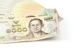 Duizend rekening van Thaise munt, Reeks van rekening van duizend rekening Versiejaar 2015 Stock Fotografie