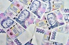 Duizend Tsjechische kronen Royalty-vrije Stock Afbeeldingen