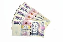 Duizend Tsjechische kronen Stock Foto