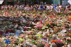 Duizenden bloemen in Oslo, één week na de aanval van Juni 2011 Royalty-vrije Stock Foto