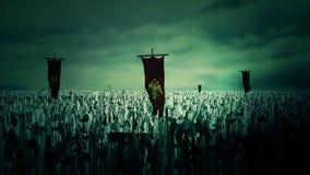 Duizenden Militairen van de Roman Byzantine Empire Marching To-Slag stock footage