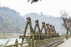 Dujiang dam scenic area view Royalty Free Stock Photography