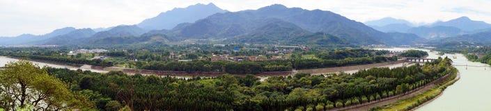 Dujiang-Verdammung in sicuan Chengdu Stockfotografie