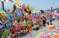 Dujiangyan, China: Colourful Kites Royalty Free Stock Image