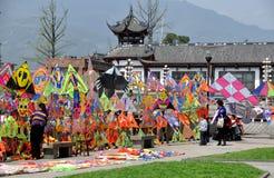 Dujiangyan, China: Colourful Kites Stock Photography