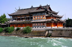 Dujiangyan, China: Historic Tea House Stock Photography