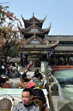 Dujiangyan, China: Nan Qiao Covered Bridge Royalty Free Stock Images