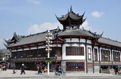 Dujiangyan, China:   Traditional Chinese Buildings Royalty Free Stock Images