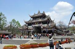 Dujiangyan, Chine : Passerelle historique de Nan Qiao Photo libre de droits