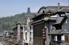 Dujiangyan, Cina: Costruzioni cinesi classiche Immagine Stock