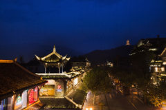 Dujiangyan city night scene Royalty Free Stock Photography