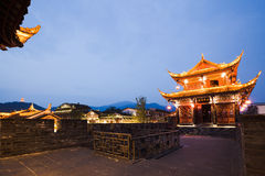 Dujiangyan city night scene Stock Photos