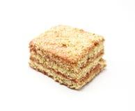 Dukan bantar Bantar nytt läckert för morotkaka kakan på Dukan bantar på en vit bakgrund Arkivbilder