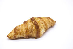 Dukan Diet. Fresh delicious croissant at Dukan Diet on a white background. Stock Photos