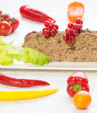 Dukan diet - Meatloaf with vegetables Royalty Free Stock Photos