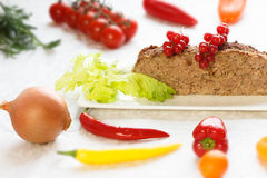 Dukan diet - Meatloaf with vegetables Stock Photos