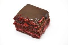 Dukan Diet. Red Velvet, fresh delicious diet cake at Dukan Diet on a white background. Stock Photos