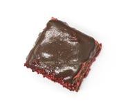 Dukan Diet. Red Velvet, fresh delicious diet cake at Dukan Diet on a white background. Stock Image