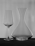 Decanter and wineglass Stock Photography