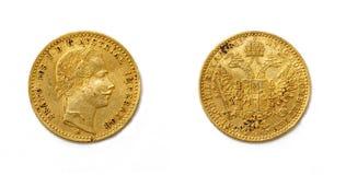 1 dukat - Franz Joseph I Royaltyfria Bilder