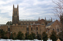 Duke Campus In Winter Image stock